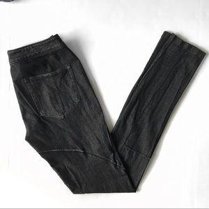 Rag & Bone Black Moto Leggings Skinny Jeans Sz 28